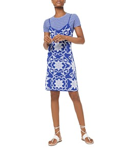 MICHAEL Michael Kors - Studded Mosaic-Effect Slip Dress