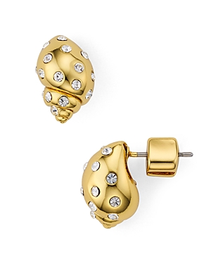 kate spade new york Under the Sea Pave Shell Stud Earrings