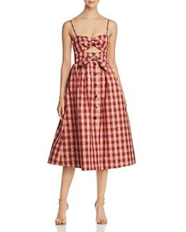 kate spade new york - Gingham Spade Midi Dress