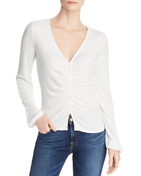 Sadie & Sage - Ribbed Button-Front Henley