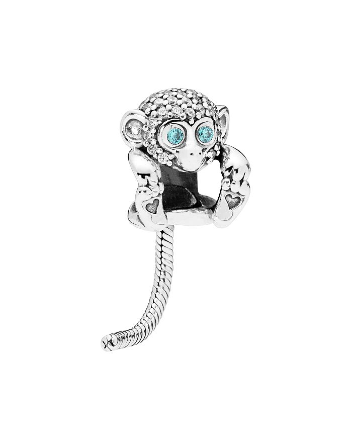 Pandora - Sterling Silver & Cubic Zirconia Sparkling Monkey Charm