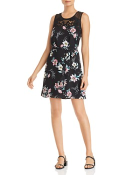0e3ade6759e859 Daniel Rainn - Sleeveless Floral-Print Dress ...