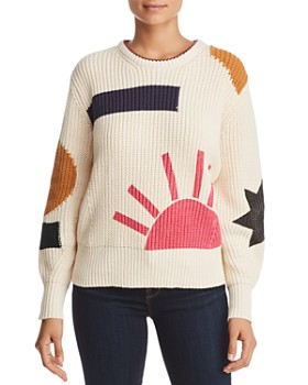 Scotch & Soda - Chunky Ribbed Graphic Sweater