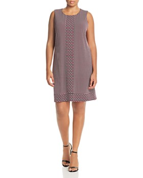 61d94d2cef5bf MICHAEL Michael Kors Plus - Geo Border Print Shift Dress ...