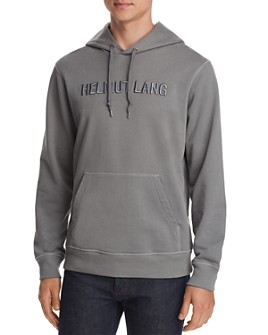 Helmut Lang - Standard Tonal Logo-Embroidered Hooded Sweatshirt