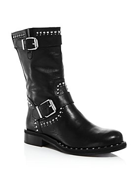 Charles David - Women's Whistler Studded Leather Moto Boots