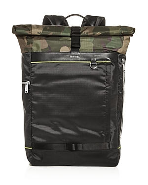 Paul Smith Backpacks NAKED LADY CAMO ROLLTOP BACKPACK