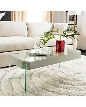 SAFAVIEH - Katelyn Rectangular Contemporary Glass Leg Coffee Table