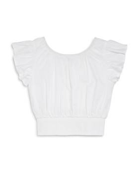 bebe - Girls' Ruffled Eyelet Top - Big Kid
