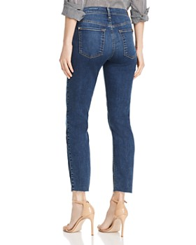7 For All Mankind - Roxanne Raw-Hem Ankle Jeans in Medium Blue