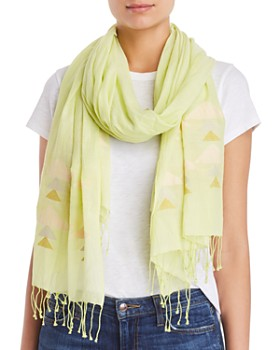 Eileen Fisher - Printed Organic Cotton Fringe Scarf