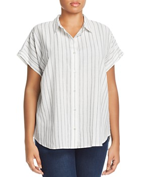 Eileen Fisher Plus - Striped Button-Down Top