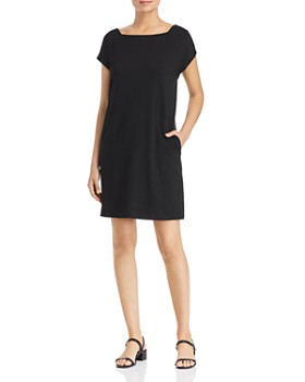 f7d6eb4c06ea Eileen Fisher Petites - Short-Sleeve Shift Dress ...