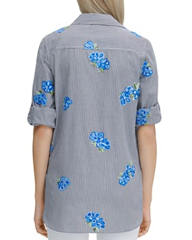 Calvin Klein - Embroidered Button-Down Top