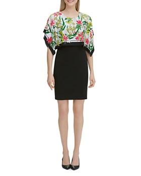Calvin Klein - Floral Overlay Dress