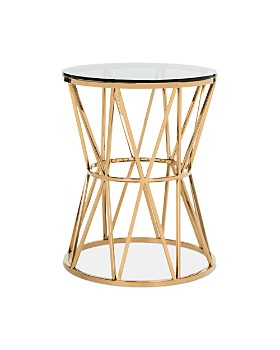 SAFAVIEH - Delsy Glass Top End Table