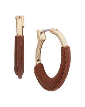 Ralph Lauren - Leather-Wrapped Hoop Earrings