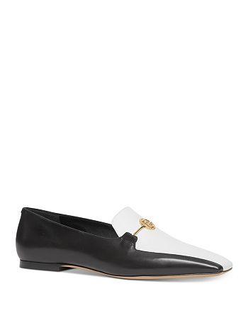 Burberry - Women's Color-Block Square Toe Loafers