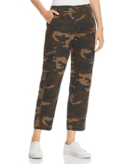 BLANKNYC - Camo-Print Cropped Cargo Pants