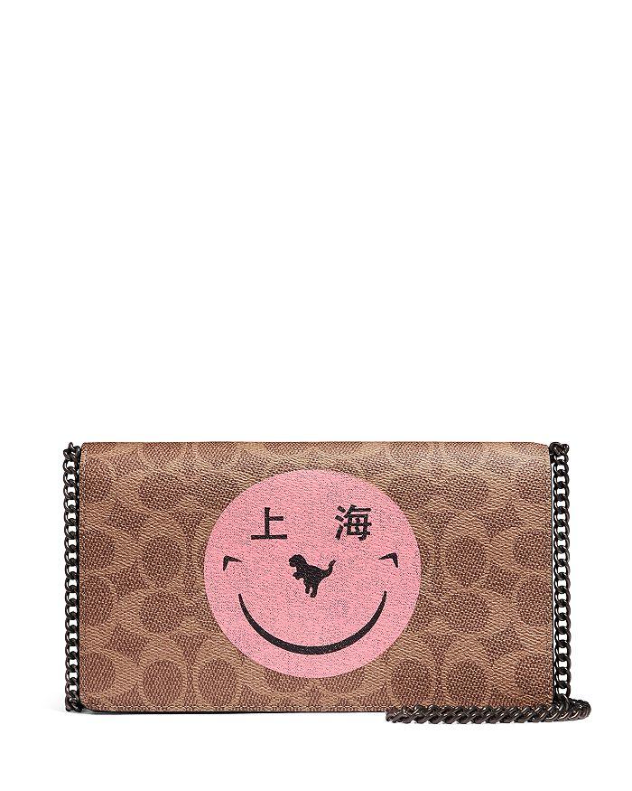 COACH - Callie Monogram Smiley Face Crossbody