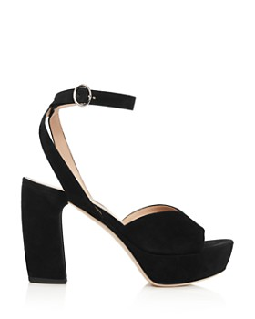 Miu Miu - Women's Suede Platform Sandals