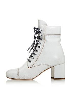Miu Miu - Women's Never Mind Block Heel Booties