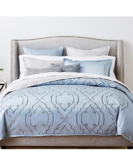 Hudson Park Collection - Embroidered Tile Bedding Collection - 100% Exclusive