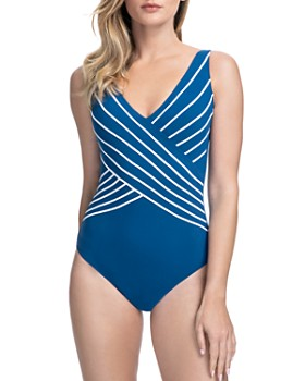 Gottex - Embrace Crossover V-Neck One Piece Swimsuit