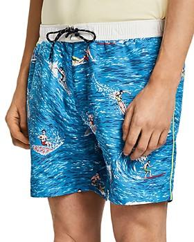 Scotch & Soda - Surfer-Print Swim Shorts