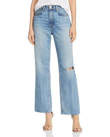 rag & bone - Ruth Super High-Rise Raw-Edge Straight-Leg Jeans in Melanie