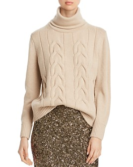 Lafayette 148 New York - Cashmere Cable-Knit Turtleneck Sweater