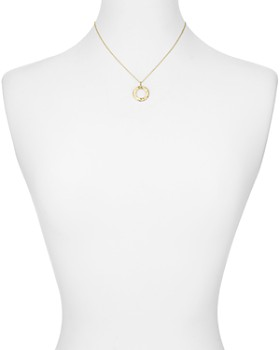 Argento Vivo - Hammered Circle Pendant Necklace in 18K Gold-Plated Sterling Silver, 16""