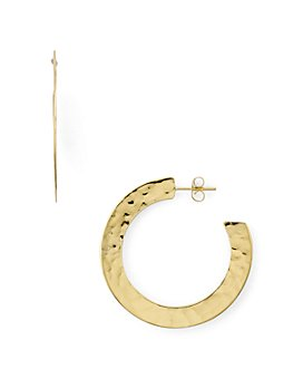 Argento Vivo - St. Barts Hoop Earrings in 18K Gold-Plated Sterling Silver