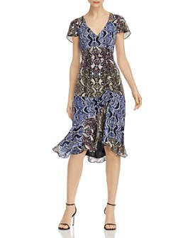 Parker - Delia Snakeskin-Printed-Silk Dress