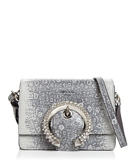 Jimmy Choo - Madeline Lizard-Print Shoulder Bag
