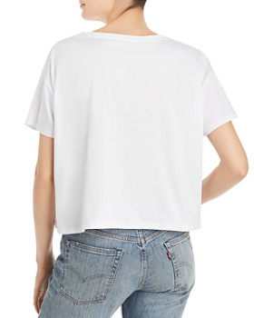 FRENCH CONNECTION - Le Frenchie Cropped Graphic Tee