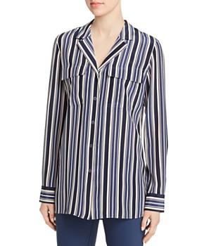 Lafayette 148 New York - Maximina Silk Striped Blouse