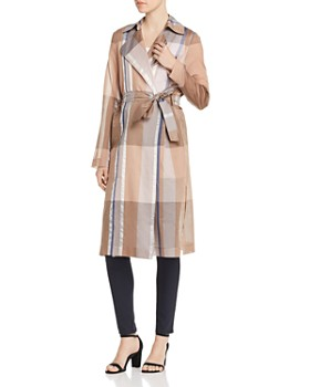 Lafayette 148 New York - Evangelina Plaid Organza Trench Coat