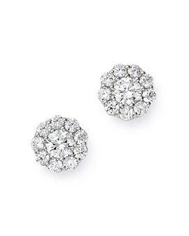 Bloomingdale's - Cluster Diamond Stud Earrings in 14K White Gold, 1.50 ct. t.w. - 100% Exclusive