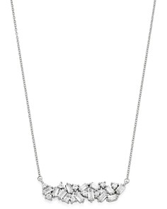 Bloomingdale's - Diamond Scatter Bar Necklace in 14K White Gold, 1.0 ct. t.w. - 100% Exclusive