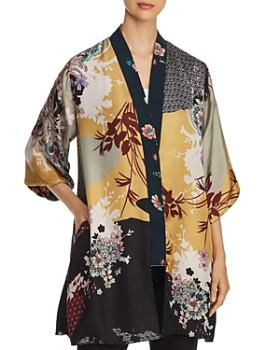 Johnny Was - Bianca Reversible Mixed-Velvet Kimono