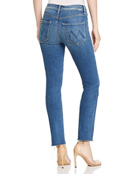 MOTHER - The Hustler Ankle-Length Frayed Jeans in Big Sky