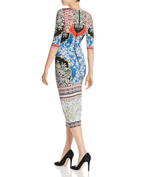 Alice and Olivia - Delora Floral Midi Dress