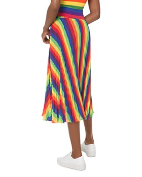 MICHAEL Michael Kors - Rainbow Pleated Georgette Skirt