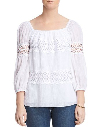 Bailey 44 - Mykonos Lace-Inset Top