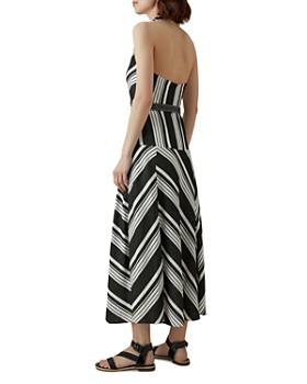 KAREN MILLEN - Striped Halter Midi Dress