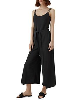 KAREN MILLEN - Strappy Wide-Leg Jumpsuit
