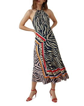 d316b7c82b KAREN MILLEN - Zebra Scarf-Print Midi Dress ...