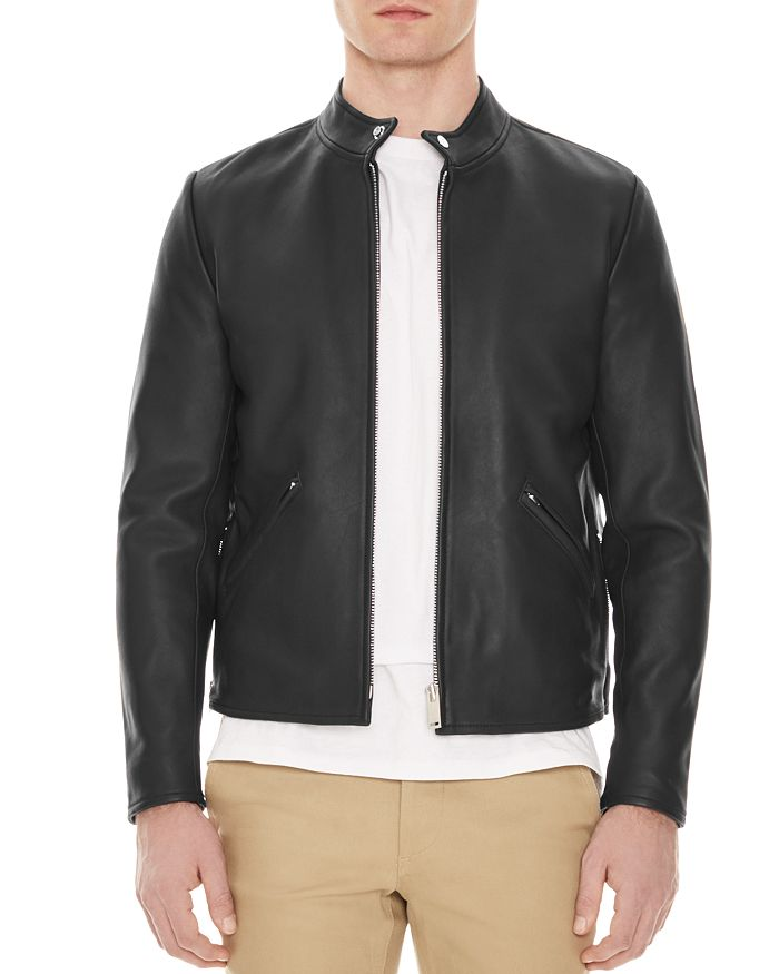 Sandro - Minimal Leather Jacket