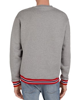 The Kooples - California Panther Flocked Cotton Sweatshirt